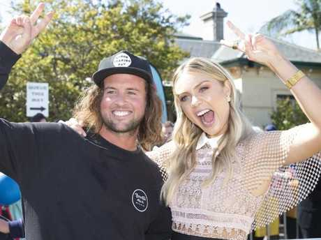 Josh and Elyse have emerged as firm favourites to win The Block — but anything can happen on auction day. Picture: Sarah Matray