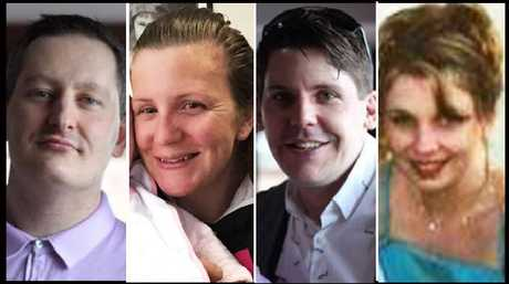 The Dreamworld victims; Roozi Araghi, Kate Goodchild, Luke Dorsett and Cindy Low.