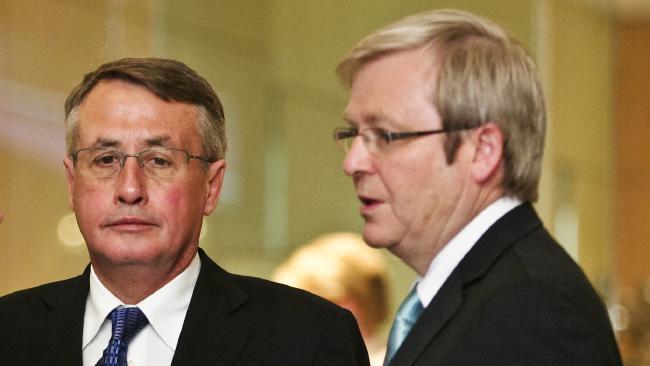Wayne Swan and Kevin Rudd.