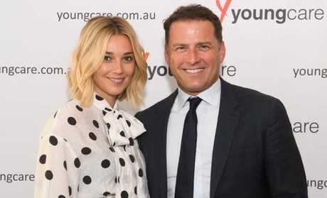 Karl Stefanovic and his girlfriend Jasmine Yarbrough.