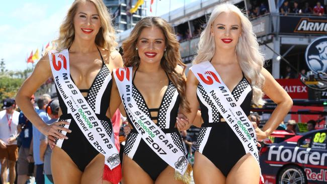 "Miss Supercars winner Sophie Budack says missing out on competing at the Olympics in 2012 due to back fractures was ""heart breaking"". Joined by Miss Supercars runner-up Michaela Arnott, and second runner-up Nicole Hall, she said winning the contest was something she could have only dreamed of. Picture: Glenn Hampson"