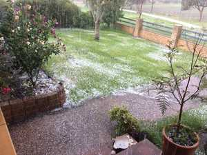 Hail looks like snow in the Southern Downs