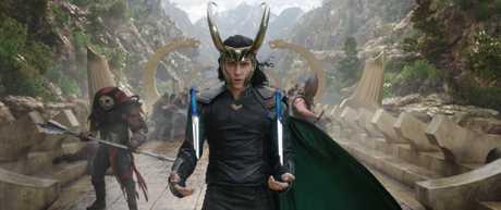 Tom Hiddleston as Loki in a scene from Thor: Ragnarok.