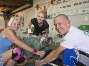 Toowoomba Weightlifting Association members (from left) Bronwyn Hitchener, Lisa Souter and Brent Vaughan at training, Monday, October 23, 2017.