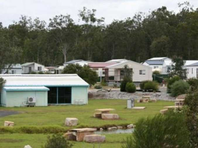 Cabins at Helidon Spa went under the hammer yesterday.