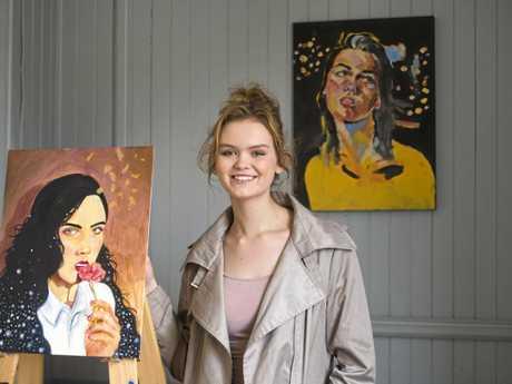 GOLDEN CHILDREN: Toowoomba artist London Heir is set to open her next exhibition called Children of Gold next month.