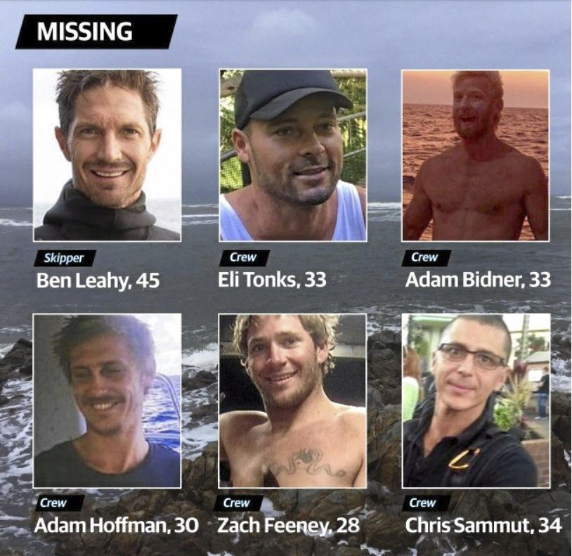 The men missing at sea.