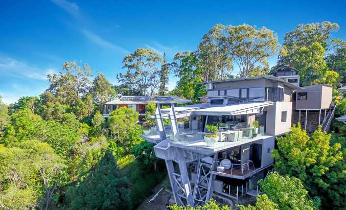 CUTTING EDGE: The four-storey masterpiece at 12 Panorama Crescent, Buderim, designed by Ken Down.