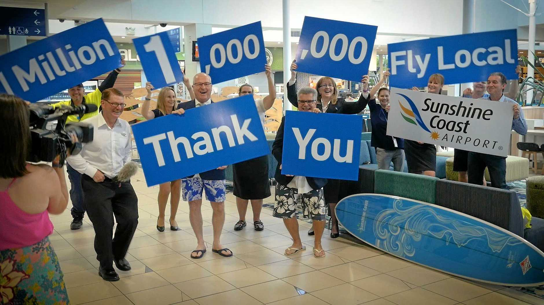 THE Sunshine Coast Airport welcomed more than one million for the first time in 2016 with numbers continuing to grow.