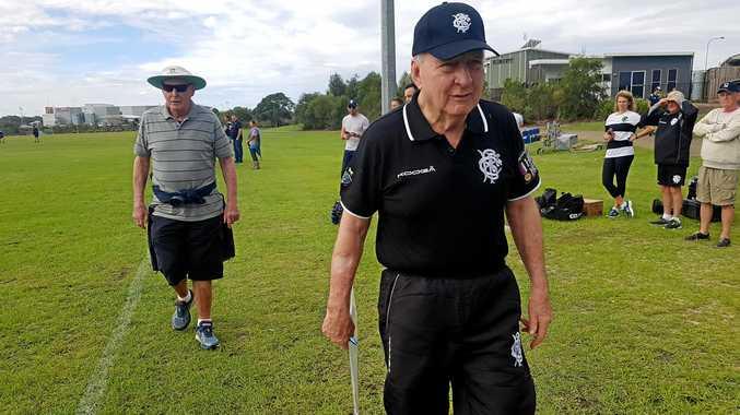 International Barbarians coach Alan Jones at Barbarians training at Casuarina Beach Rugby Union Club on Monday.