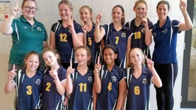 STARS: Burnside were champions at the Junior Queensland Volleyball Schools Cup.