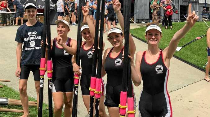 CHAMPS: The victorious Sunshine Coast crew.