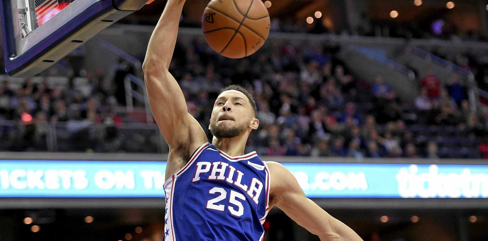Philadelphia 76ers guard Ben Simmons.