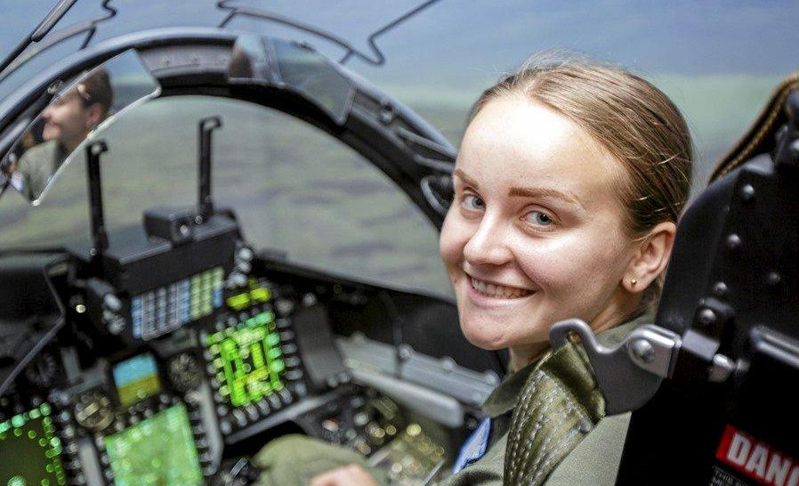 FLYING HIGH: Ipswich Teen Dana Evans attended Air Force Flight Camp in Perth.