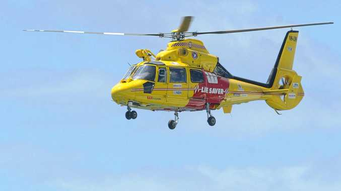 A man was winched to be transferred to Lismore Base Hospital, after nearly drowning at Tallows Beach.