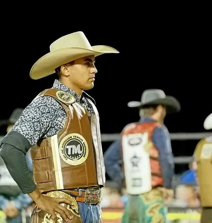 TOP SHOT: The number two ranked bull rider in Brazil, Lucas Divino, is enjoying competing in Australia.