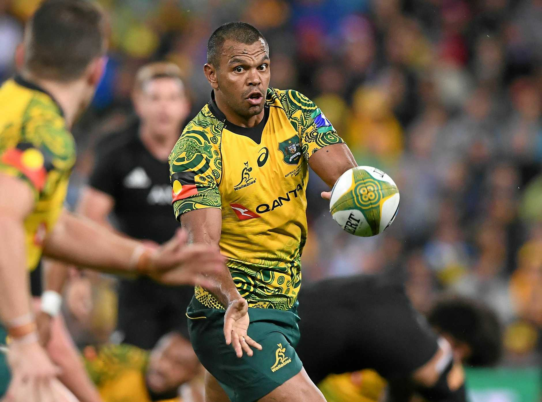Kurtley Beale in the Wallabies' Indigenous jersey worn in the match against New Zealand.
