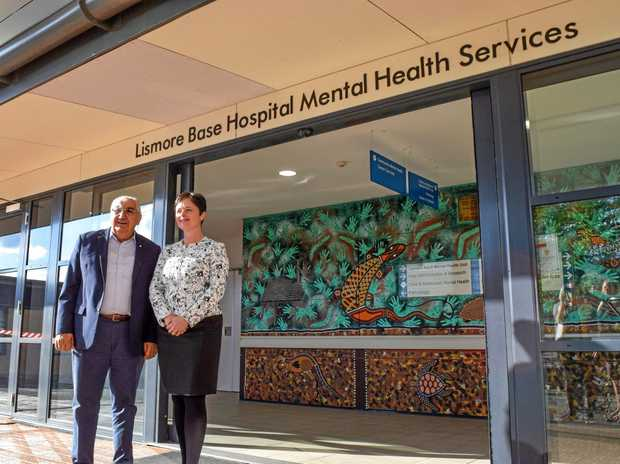 IN TOWN: Mental Health Minister Tanya Davies with Lismore MP Thomas George after a tour of the Lismore Base Hospital Mental Health Unit.