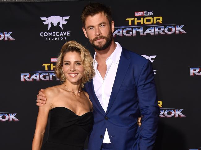 Chris Hemsworth and Spanish wife Elsa Pataky feel at ease in their adopted home of Byron Bay. Picture: Frazer Harrison/Getty Images