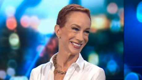 Comedian Kathy Griffin on Channel Ten's The Project.
