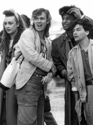 Culture Club arriving in Melbourne in 1984