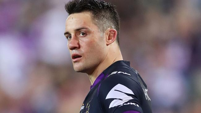 Cooper Cronk of the Storm during the 2017 NRL grand final. (Photo by Mark Metcalfe/Getty Images)