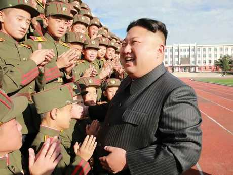 Kim is happy to show off his military might, but North Korea doesn't need a military to cause damage. Picture: KCNA/AFP