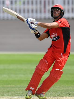 Jake Weatherald of the Redbacks plays a shot during the JLT One Day Cup cricket match against NSW. Picture: AAP Image/David Moir