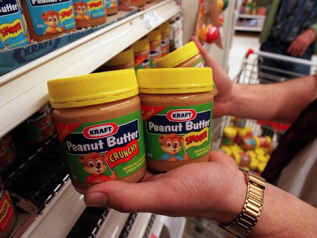 Kraft peanut butter packaging as it looked in 1996.