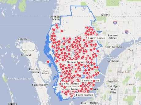 These are homes for sale — but there are hardly any shops, schools, or infrastructure. Picture: Zillow