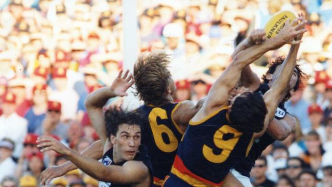 No Crows player has had a long career at West Lakes in the No. 6 jumper after Tony Modra was taken out of Adelaide colours and traded to Fremantle at the end of 1998. Picture: Ray Titus