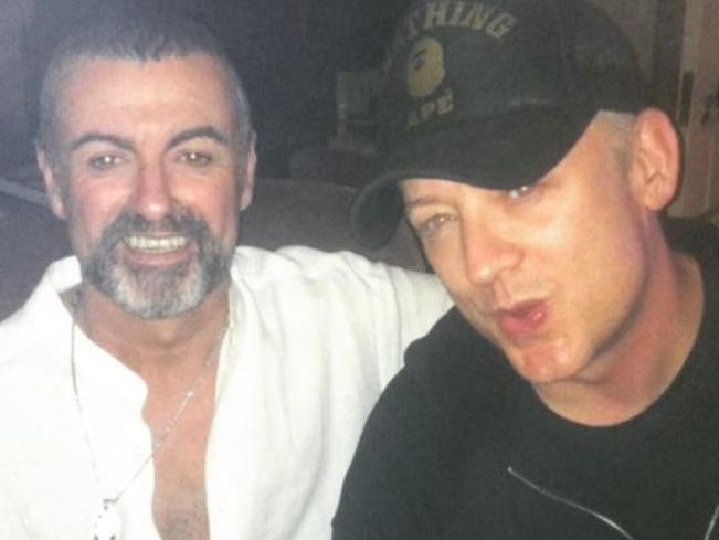 George Michael and Boy George in a photo posted by Paul Kemsley. Pic: Instagram