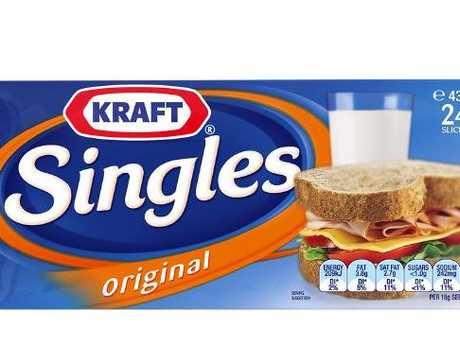 Kraft Singles in their new-look packaging.