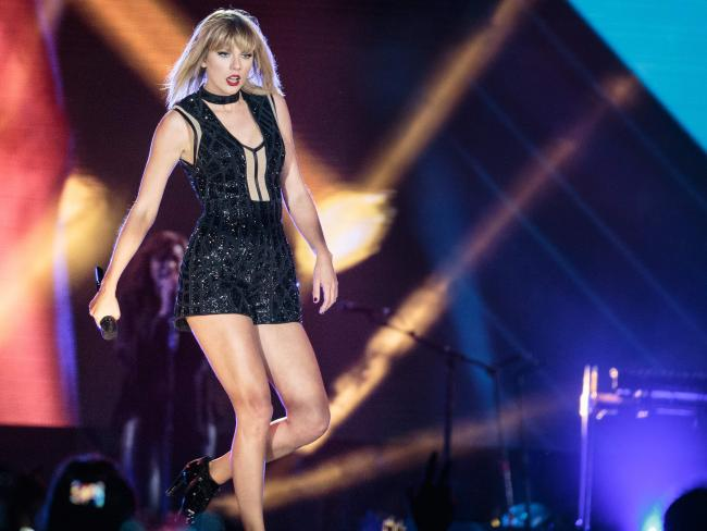 Taylor Swift hits the stage in Texas. Picture: AFP/Suzanne Cordeiro