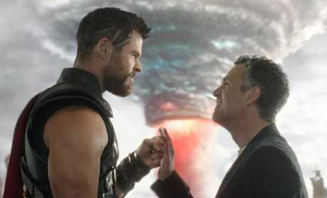 Chris Hemsworth's Thor and Mark Ruffalo's Hulk go on an intergalactic buddy road-trop in Thor: Ragnarok.