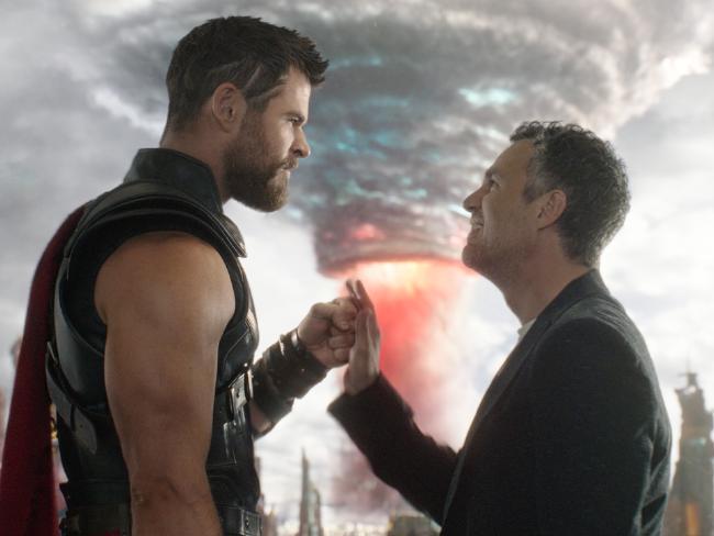 Chris Hemsworth's Thor and Mark Ruffalo's Hulk go on an intergalactic buddy road-trop in Thor: Ragnarok.