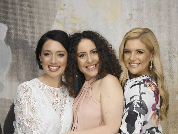 Antonia Prebble, Maria Angelico and Lucy Durack star in the TV series Sisters.