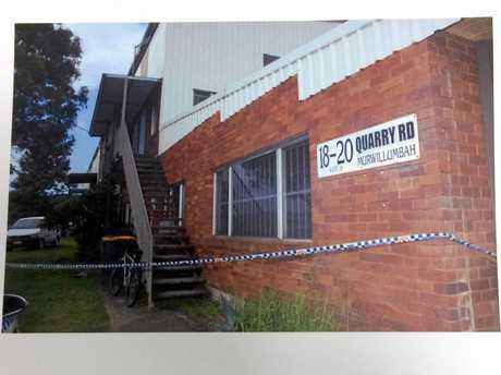 Exterior of crime scene, Michael Phillip Martin trial.