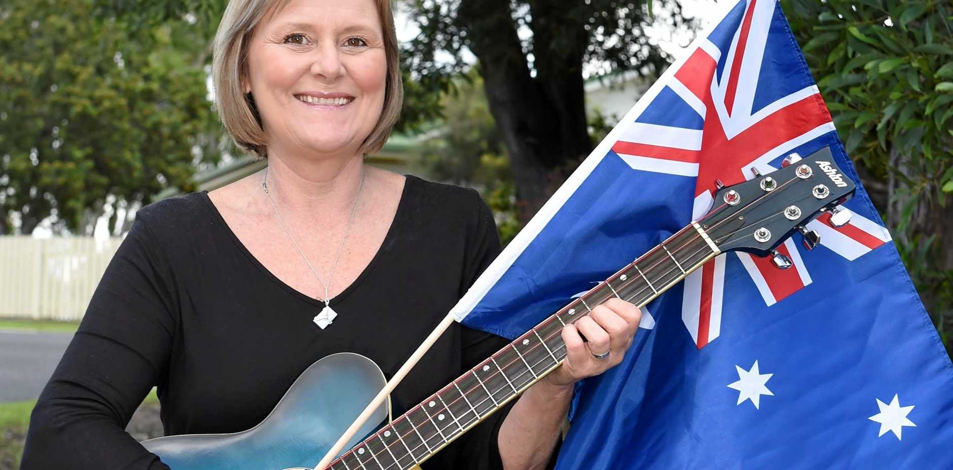 HONOURED: International country and blues singer, Keri McInerney, is proud to be one of Hervey Bay's batonbearers for the Commonwealth Games.
