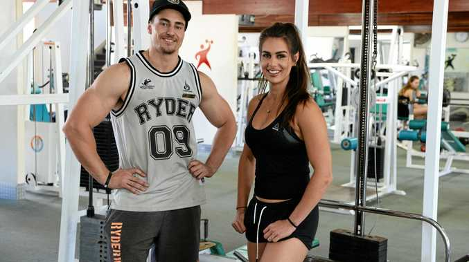FOUR WEEK CHALLENGE: Improvements Gym co-owners Alex Meale and Courtney Barbera.