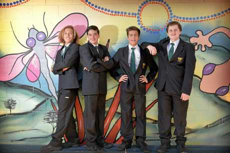 Maroochydore High School students wom a national STEM Game Programming Competition.John Saxon, Sean Turner, Nathan  Brennan and Jet-Lee Wetherald are flying to Melbourne to accept the award.