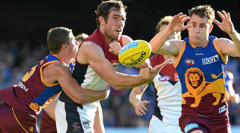 Joel Macdonald during his days as an AFL footballer with Melbourne.