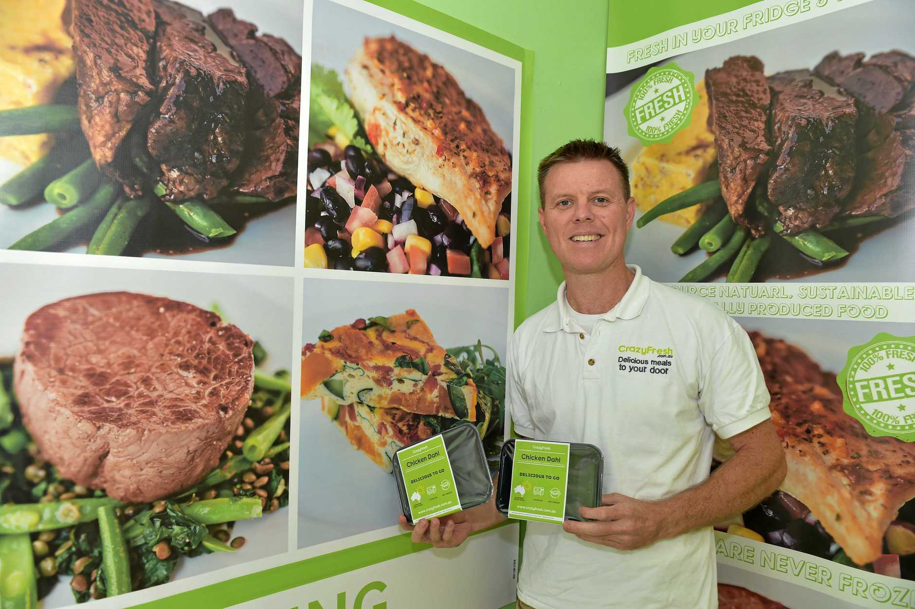 BETTER DAYS: Mat Walker from Crazy fresh has been distributing his foods across the Sunshine Coast, back in 2016.