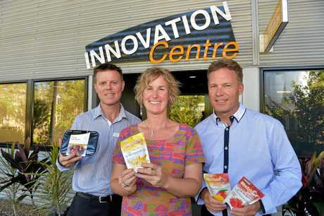 BETTER DAYS: Matthew Walker from Crazy Fresh, Emma Greenhatch from the Food and Agribusiness Network and Mark Paddenburg from the Innovation Centre.
