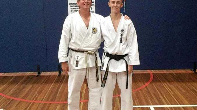 Sensei Peter Harth and his star student Jarryd Lebeter.