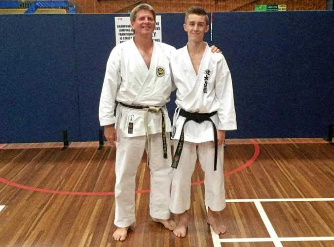 Sensei Peter Harth and his star student Jarryd Lebeter.