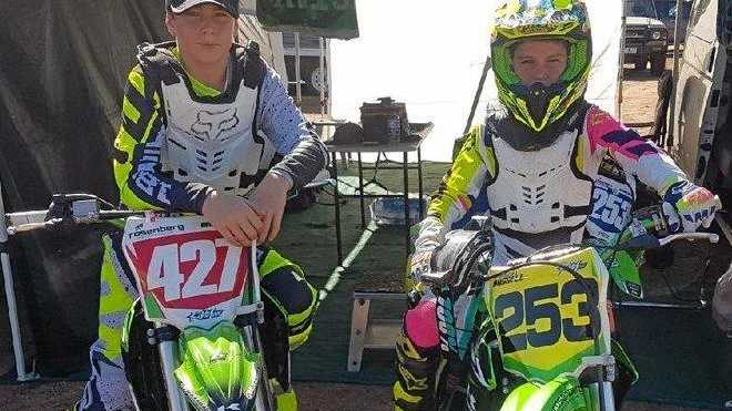 Ben and Mason Russell will be competing in Ocean to Motion Motocross in Gladstone this weekend