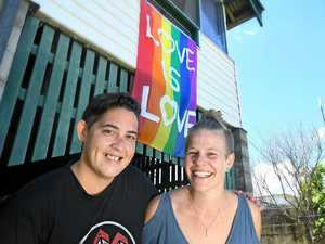 Love is love: Couple flies flag for marriage rights
