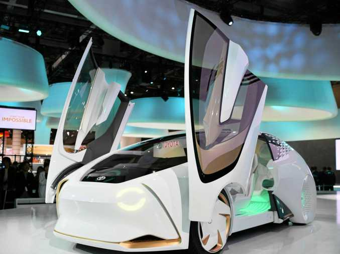 The Toyota Concept-i concept car at the 2017 Tokyo motor show.
