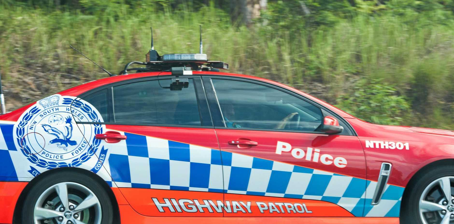 Police are at the Pacific Highway after a trailer fell off a truck near New Italy.